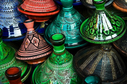 multicolored tajines by flequi on Flickr.