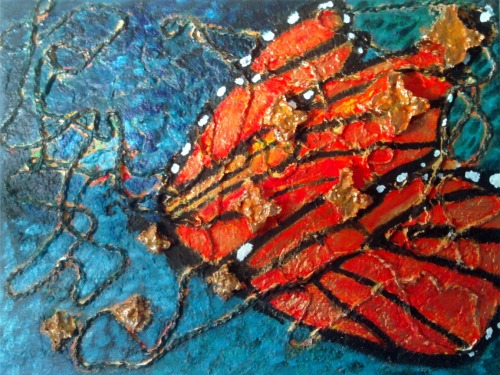 """Butterfly Spirit""16"" x 12""Mixed Media on Canvas"