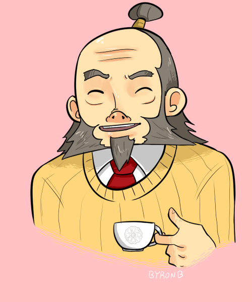Iroh, Philosophy teacher and supervisor of the Tea Club at Ozai Private School for The Privileged Few!