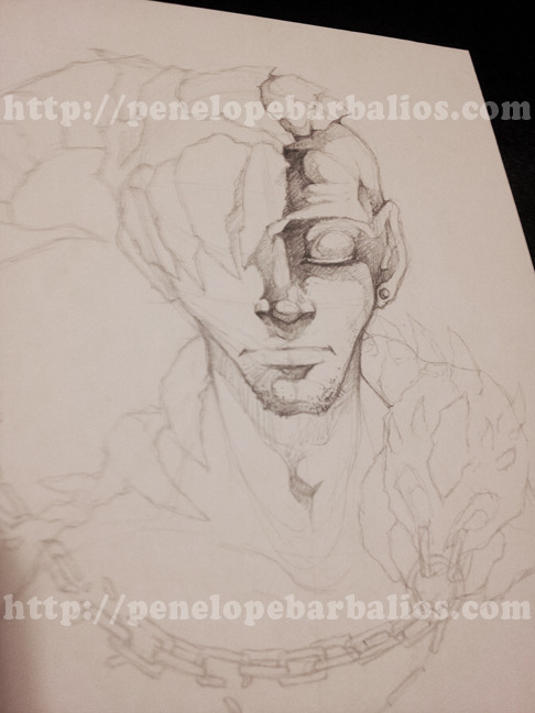 "Now up for sale: ""Broken Warrior (Character Sketch) - Pencil Art (a Penelope Barbalios ORIGINAL)"" —-> Here! Boned."