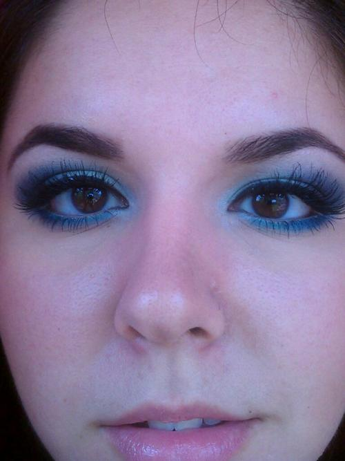 hi, love your blog. I have the Blue Had Me at Hello palette from Wet n Wild that you posted. I dropped mine and busted some of the shadows too :(  this is a look I did with it.  [edit] So sorry that you dropped yours!! The look is gorgeous :)