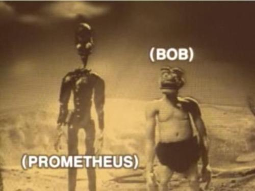 Just to mess with the Prometheus tags. :D I love this show. Hahahaha!