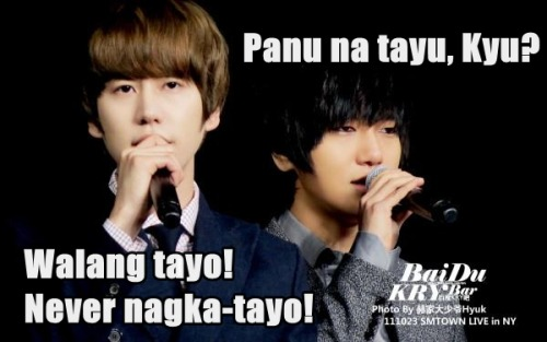 they we're having an affair? HAHAHAHA. Lagot ka kay Sungmin, Kyu!