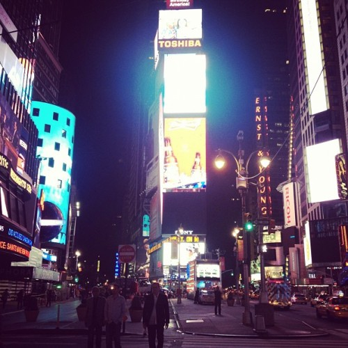 First time here.  (Taken with Instagram at Times Square)