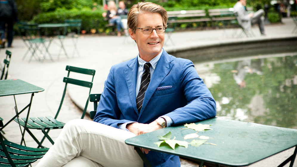 Actor and all-round gent Kyle MacLachlan for Park & Bond's 'Most Stylish Dads in NYC' photo-op  [SOURCE: Park & Bond]