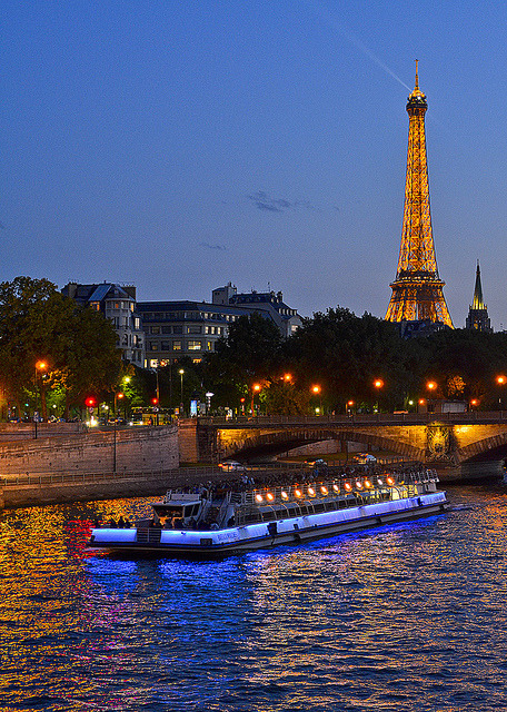 | ♕ |  Paris evening - Seine River Cruise  | by © pedro lastra