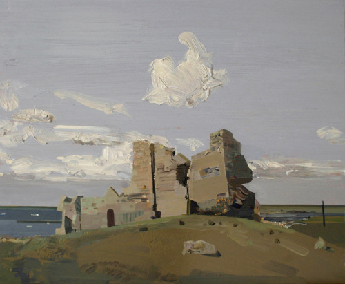 Mairead O'HeochaCastle ruin at Clonmacnoise, Co. Offaly. 2011Oil on board40 x 49 cm VIA