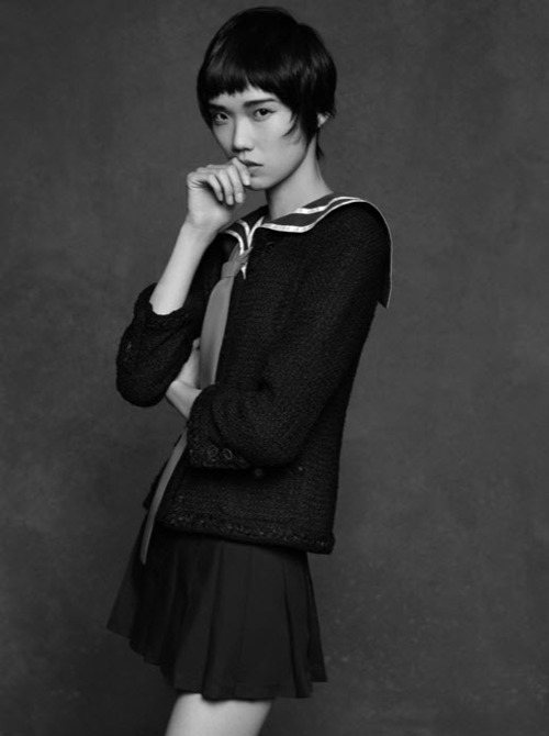 seokay:  The Little Black Jacket: Chanel's Classic RevisitedTao Okamoto by Karl Lagerfeld