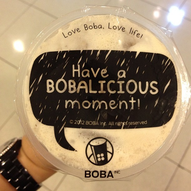 surasudjiwo Boba black milk tea! #boba #milktea #drink #beverage