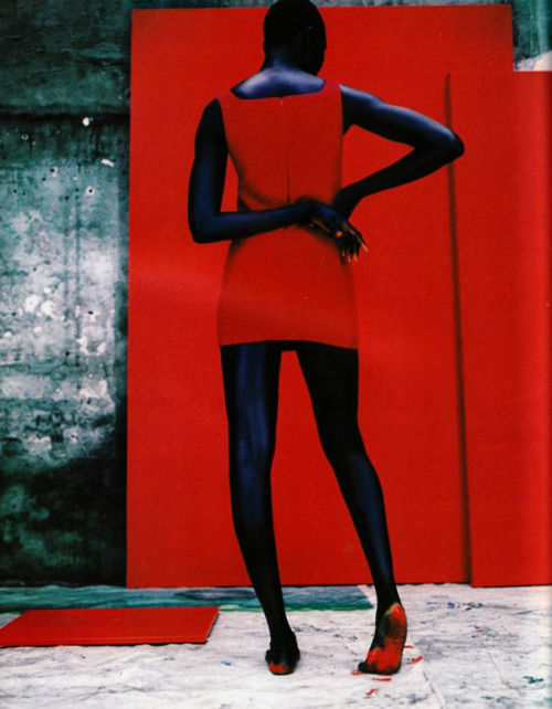 _Champ de Couleur_    Alek Wek by Jean-Baptiste Mondino / Vogue Paris (via f-l-e-u-r-d-e-l-y-s)