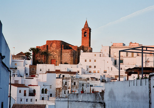 | ♕ |  Andalucian sunset - white village Vejer, Spain  | by © John & Tina Reid