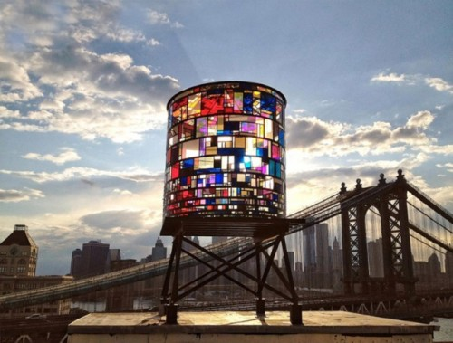 Source: Watertower, A Multicolored Sculpture on the Brooklyn Skyline