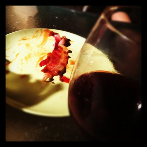 Bacon and wine night. #drinks #bacon #getsome  #baconandwinenight @mustardgirl_21  (Taken with Instagram)