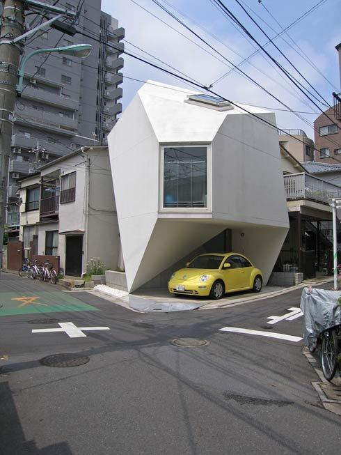 justthedesign:  When you live in Tokyo, you haven't got the space nor the parking permit, this is the type of design that will work. I love the ingenuity. Via Fresh Home