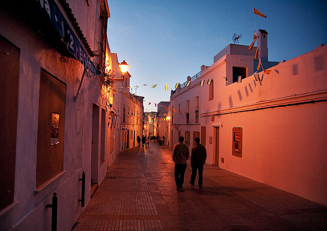 | ♕ |  Festive evening - Vejer, Andalucia, Spain  | by ©  John & Tina Reid
