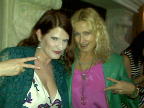 Chunking up deuces with the Kosturovedawg at tonight's LaineyGossip SMUT Soiree.