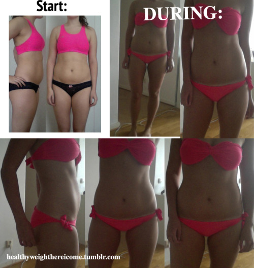 beforeandafterweightlosspics:  Sometimes when I feel down and it feels like this whole thing being on a diet and everything is useless and that no progress is made, I look at my progress-pictures and I'm really glad that I've got this far. I still have a long way to go, but I've been doing pretty good i think. I want to thank all of you tumblrs for all your support, it really means alot to me and it helps me stay on track! Lots of love and if I can do it, anyone can! xoxoxo / B , healthyweighthereicome.tumblr.com