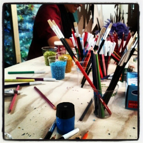 creatività all'opera al #fashiocamp2012  (Taken with Instagram)