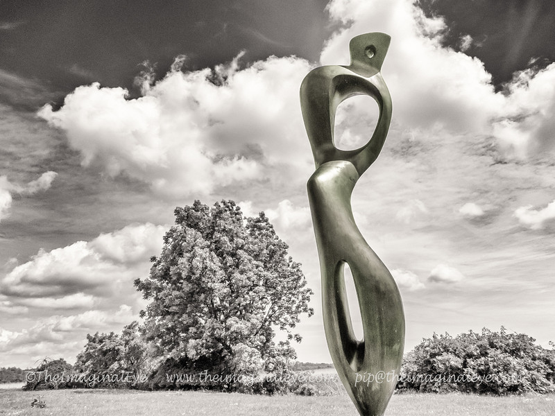 Bronze sculpture by Henry Moore at Snape Maltings