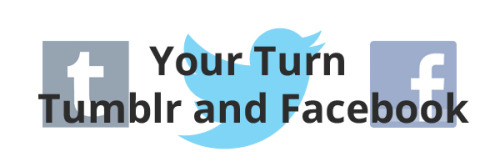 """Your turn Tumblr and Facebook"" says Twitter with their new flying #Twitterbird.  Twitter has officially said this and never will. Facebook has matured with a 900 million user count so the word ""facebook"" or just letter ""f"" is a good enough symbol. Tumblr could come up with something but now that the infamous Twitter has forgone their ""t"" for branding they can ensure that will be their ""t"". Keep in mind though, despite Twitter being strict on what not to use anymore there will still be people out of the loop and two lowercase ""t""s will be around.  Symbols without any typography are powerful, but that's not to say you can make a specific letter or font spelling out your name with the specific colors be just as powerful. It's a matter of choice. I like where Twitter is going."