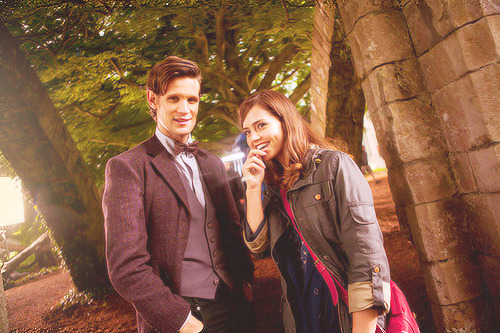 First look at Matt Smith and Jenna-Louise Coleman on location