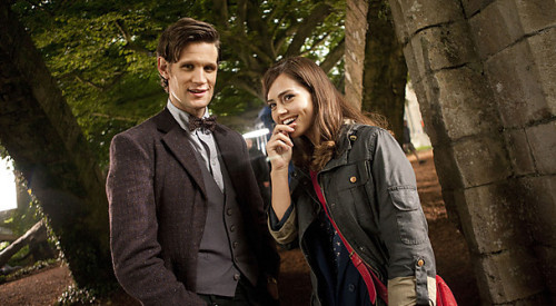 (via BBC - Blogs - Doctor Who - Matt Smith and Jenna-Louise Coleman)