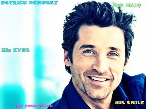 awwwwww i just LOVE YOU SO MUCH PATRICK DEMPSEY <3