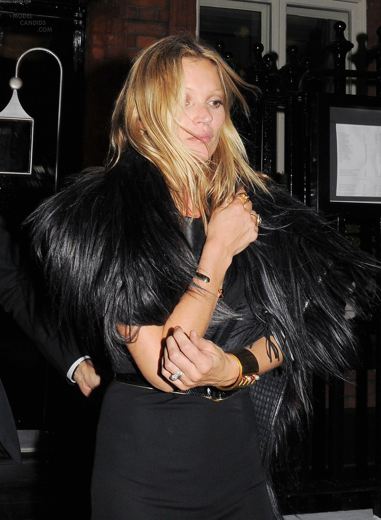 Kate Moss leaving the Maria Curie Cancer Care Fundraising Dinner at Claridges in London on May 15th 2012.