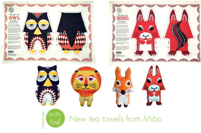 littlecraziness:  (via {zesty find} new tea towels from mibo - 74 Lime Lane | 74 Lime Lane)