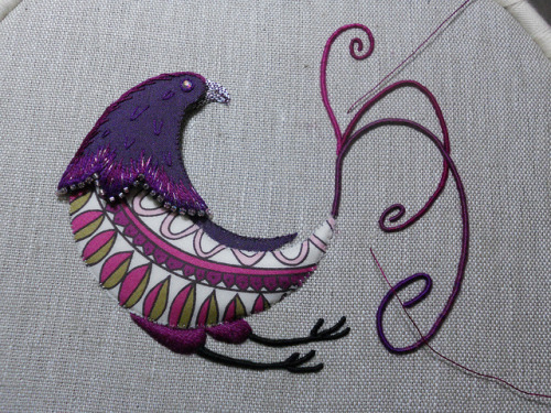 WIP Paradise Bird - on Flickr.Via Flickr: Working late into the night, I got all the trailing done for the tail. It is not the tail complete, bit more to do on it yet!