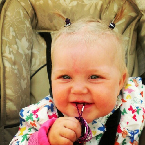 My #gorgeous #babygirl, #mie with #pigtails! #baby #girl #cute #swag #hairdo #hair #summerfeeling #summer #instamood #kids #kidstagram #children #child #pretty #beautiful #butterfly #butterflies #outdoors  (Taken with Instagram)
