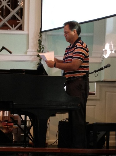 Rev.david Donathon prepares for Conference.  God's power is in the air.