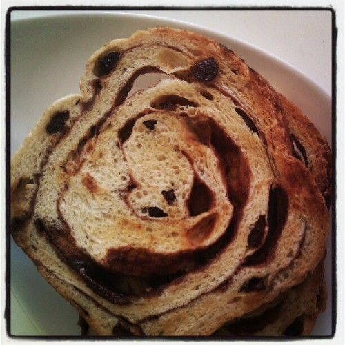 Morning #swirl #breakfast #cinnamonraisin (Taken with Instagram)