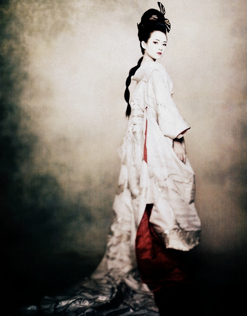 Zhang Ziyi by Paolo Roversi for Vogue US December 2005