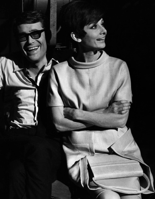 hollygohardly:  Audrey Hepburn and Peter O'Toole on the set of How to steal a million, 1966