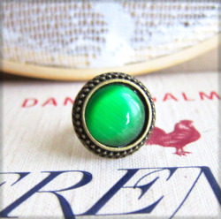 Peacock Green Ring - JEWELSALEM