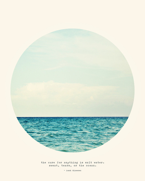 salt water cure print by tina crespo | via society6
