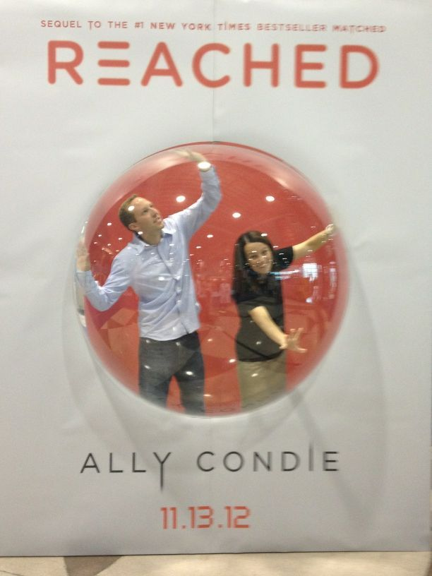 matchedfacts:  Ally Condie plays around inside the REACHED bubble!