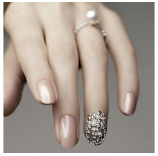 Love that beautiful pearl color nail polish matching the ring.