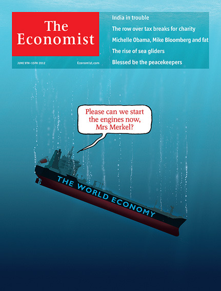 This week's cover is already the most 'liked' to date on the Economist's facebook page. The illustration is mine. The idea comes from cover designer Graeme James.