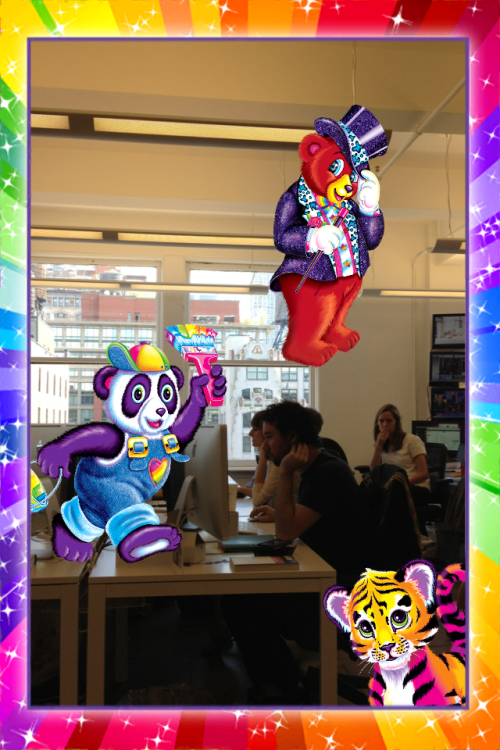O. M. G. buzzfeed:  There's a Lisa Frank app. It's very light on features, but it's got all your friends, like Magic Bear, Paint Panda, and Tiger.