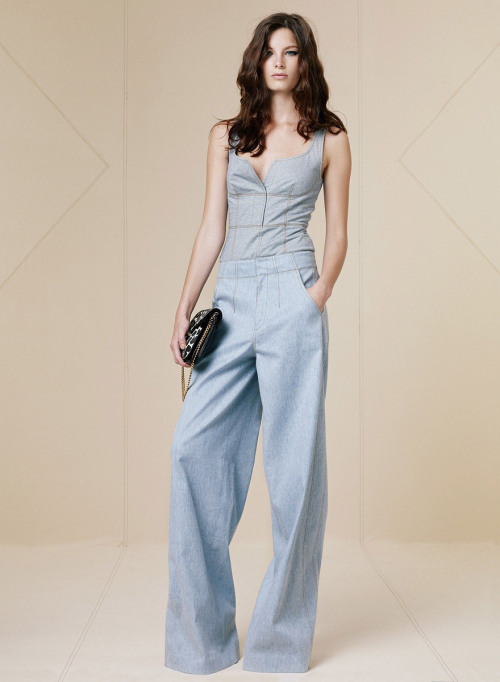 Derek Lam Resort 2013. Love this denim jumpsuit.