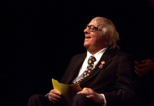 """In Los Angeles in the early 1950s, Ray Bradbury went in search of a peaceful place to work. 'I had a large family at home,' he said five decades later. They must have been a particularly lively bunch, because at the time it was just Ray, his wife Marguerite and two young children. The writing refuge Bradbury found was in the basement of the Lawrence Clark Powell Library at UCLA — and in fact, it wasn't all that quiet. 'I heard this typing,' he explained. 'I went down in the basement of the UCLA library and by God there was a room with 12 typewriters in it that you could rent for 10 cents a half-hour. And there were eight or nine students in there working away like crazy.' So he went to the bank and returned with a bag of dimes. He plugged a dime into the machine, typed fast for 30 minutes, and then dropped another. When he took breaks, he went upstairs to the library, soaking in a book-loving ambience he was making forbidden in the fiction he was writing below. He took books off the shelves, finding quotes, then ran downstairs to write some more.  Nine days — and $9.80 in dimes later — he'd written 'Fahrenheit 451.' Almost. What he'd finished there was 'The Fireman,' a short story published in Galaxy magazine in 1951. Later, he expanded the story into 'Fahrenheit 451,' which was published in paperback by Ballantine."" —""Ray Bradbury and the dime-at-a-time typewriter of 'Fahrenheit 451'"""