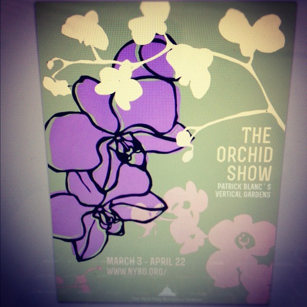 """A poster for the Orchid Show - made completely out of paper"" This beautiful piece of art was tweeted to us by artist Josh Steinberg. Thank you Josh! ~AR"