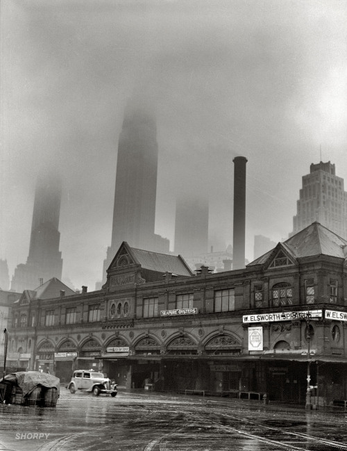 A Foggy Morning in Fulton Fish Market, New York by Gordon Parks. 1943