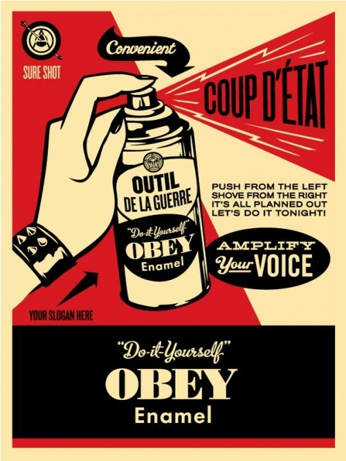 visualgraphic:  Obey Coup D'etat
