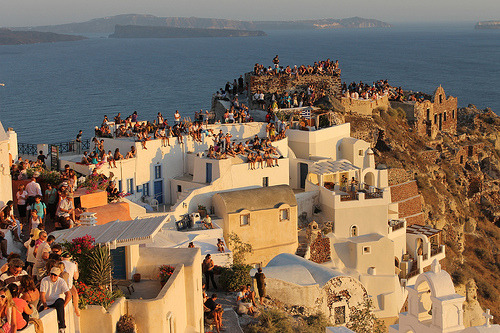 alpenstrasse:  Sunset from Oia, Santorini.