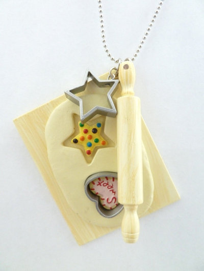 "The Bakers Necklace ""cookies time"""