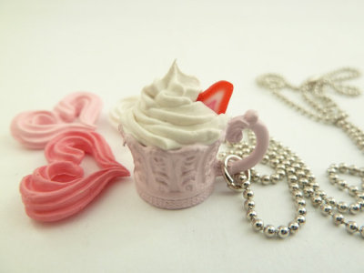 Antique princess cup necklace