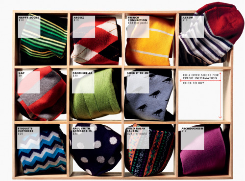 "gqfashion:  The Best Colorful Socks for Summer This summer, swap out the sober socks you wore through winter for pairs with go-to-hell colors and busy patterns. Don't worry whether they ""match"" your outfit. Some things are meant to stand out."